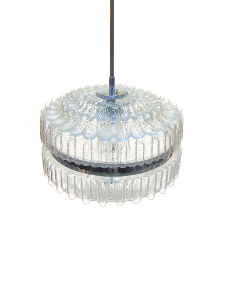 Scandinavian Ceiling Glass Lamp, 1970s