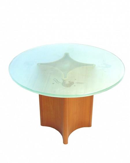 Mesa Nórdica de Cristal Art Deco