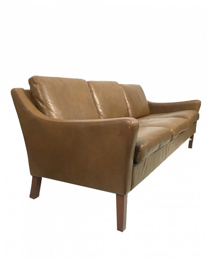 Sofa Tres Plazas.Three Seater Sofa In Brown Leather Denmark Seating