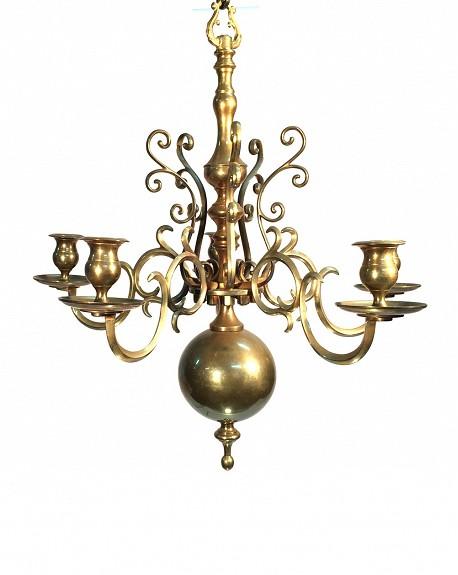 Lámpara Nórdico Metal dorado Mediana