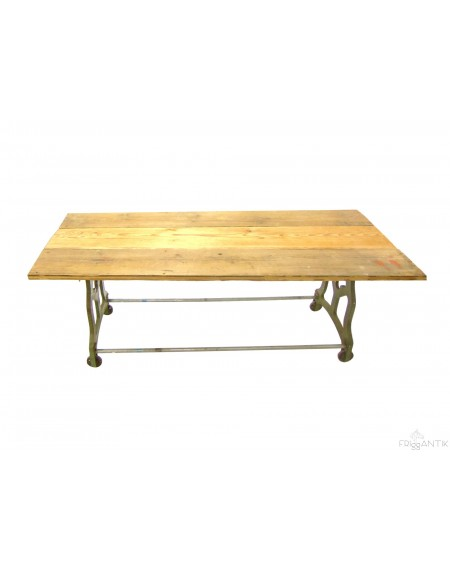Industrial Dining Table with Wheals