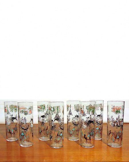Vasos decorados años 50
