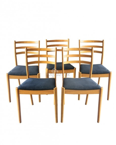 Set of 4 dining chairs, Denmark, 1960s