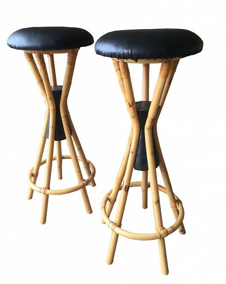 Taburetes Escandinavos Bambu