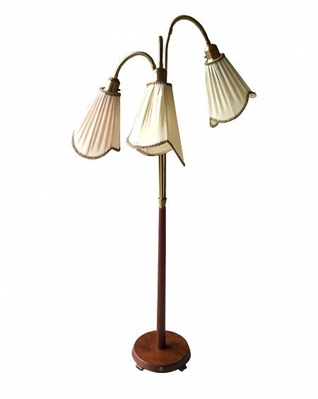 Nordic Rosewood Lamp, Denmark, 1970s
