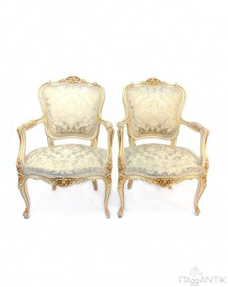 Two Armchairs, Luis XVI, Sweden