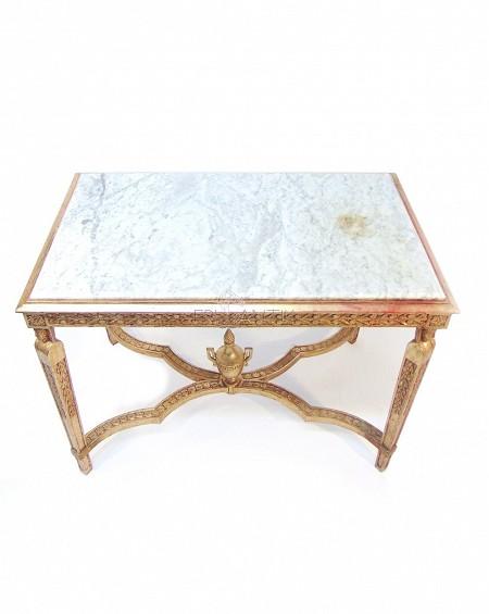 Mesa Neoclasica con tapa de mármol