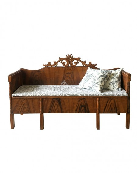 Swedish Kitchen Sofa, 1920s, Painted in Brown