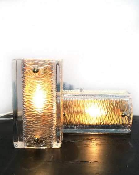 Nordic Glass Wall Lamps, Carl Fagerlund by Orrefors