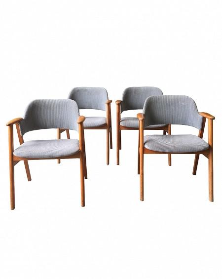 Cuatro sillones teca