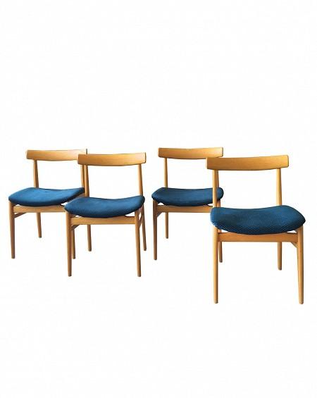 Cuatro sillas en Roble