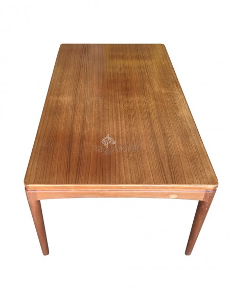 Teak Coffee Table with Shelf, 1950s, Sweden