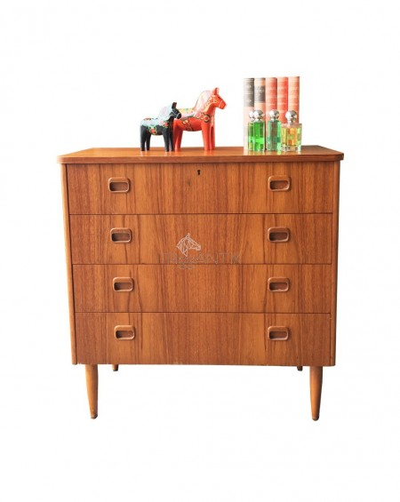 Small Teak Chest of Drawers, Sweden, 1960s