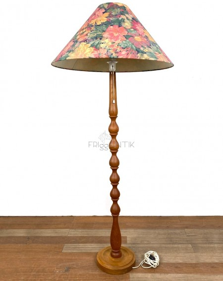 Wooden floor lamp, 1970s, Sweden