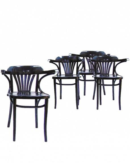 Comprar Conjunto 4 Sillas Nordicas en laca negra online - Tienda de ...